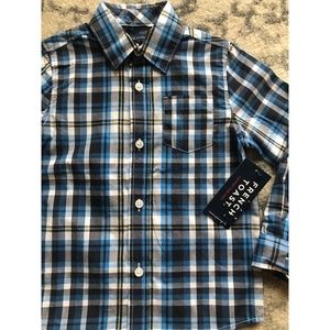 Boys Toddler 4T French Toast Button Up Shirt
